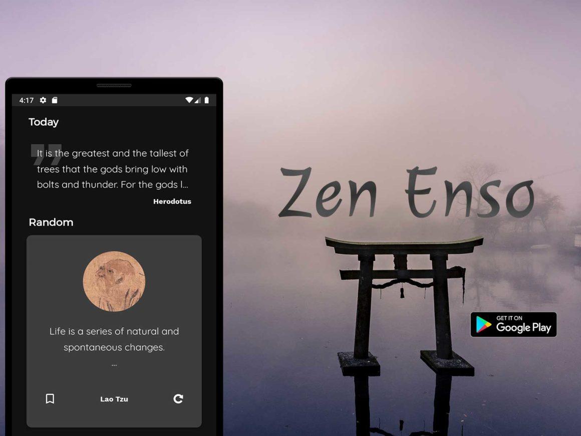 Zen Enso app promo banner